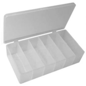 PICO Empty Styrene Plastic Container | 6 Compartments