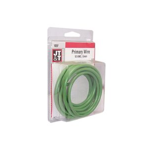 JT&T Green Primary Copper Wire | 10 Gauge, 8 Feet