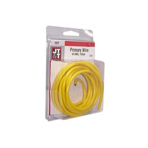 JT&T Yellow Primary Copper Wire | 10 Gauge, 8 Feet