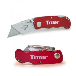Titan: Folding Pocket Utility Knife Red (Part# 11015)