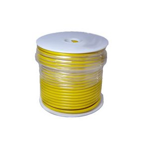 12 Gauge Yellow Primary Wire | 100 Foot Spool | Bee Wire & Cable 112-4