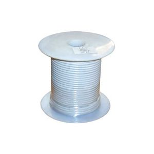 16 Gauge White Primary Wire | 100 Foot Spool | Bee Wire & Cable 116-2