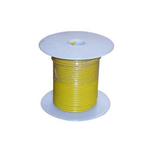 18 Gauge Yellow Primary Wire   100 Foot Spool   Bee Wire & Cable 118-4