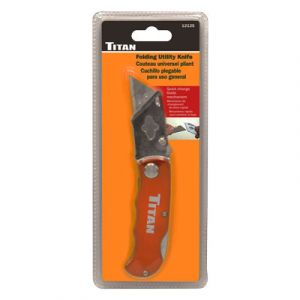 Titan Folding Utility Knife with Belt Clip