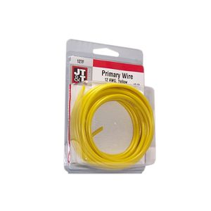 JT&T Yellow Primary Copper Wire | 12 Gauge, 12 Feet