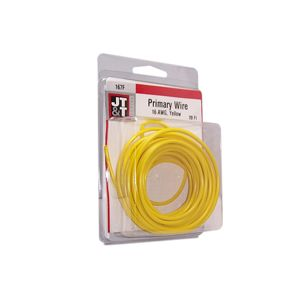 JT&T Yellow Primary Copper Wire | 16 Gauge, 20 Feet