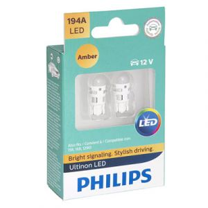 Philips Ultinon Bright Amber LED 194 | 2 Pack