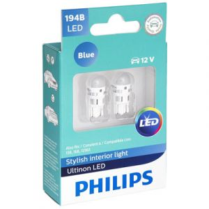Philips Ultinon Bright Blue LED 194 | 2 Pack