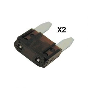 JT&T: 7.5 amp Mini-Fuse 2 pcs (Part#20304F)