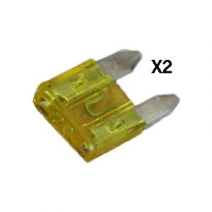 JT&T: 20 amp Mini-Fuse 2 pcs