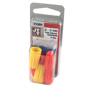 JT&T Assorted Screw-On Twist Connectors   12 Pack