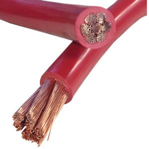 Bee Wire & Cable : 4/0 Red Starting/Battery Cable (Per Foot)