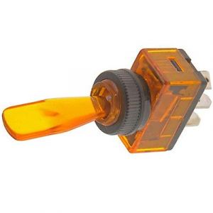 JT&T: Amber Illuminated Duckbill Switch - (Part#: 2627J