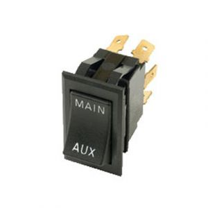 Pollak Reversing MAIN/AUX Rocker Switch | DPDT