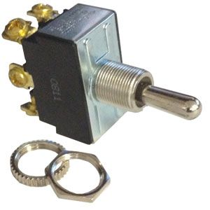 Pollak DPDT Momentary Toggle Switch | 12 Volt, 20 Amp