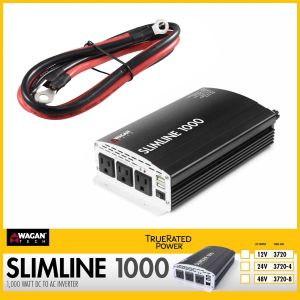 Wagan Tech: Slimline AC Inverter 1000 WATT