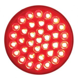 United Pacific 36 Red LED Round Stop, Turn, & Tail Light   4-Inch Round
