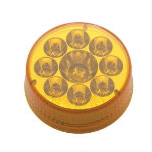 """2-1/2"""" 9-LED Pure Reflector Round Clearance Marker Light 