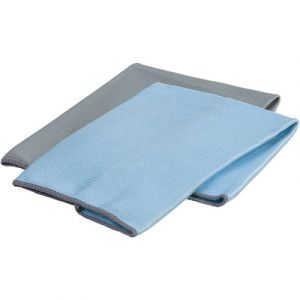 Microfiber Glass Cleaning Hand Towels   2-Pack