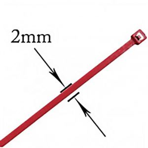 """JT&T: 4"""" Red Wire Ties - 31 Pieces (str: 18 lbs)"""