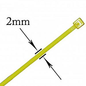 """JT&T: 4"""" Yellow Wire Ties - 31 Pieces (str: 18 lbs)"""