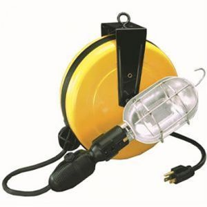 Pro Reel: Incandescent Retractable Work Light (30 foot cord)