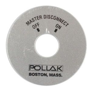 "Pollak Polished Aluminum 2.5"" Master Disconnect Faceplate"