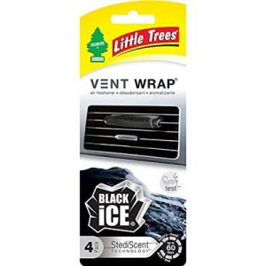 Little Trees Vent Wrap   Black Ice   4-Pack