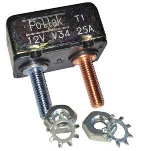 Pollak 25 Amp Circuit Breaker : Thermal Type I