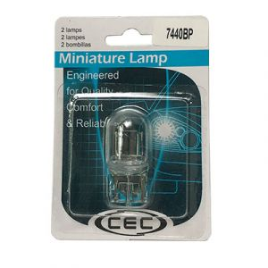 CEC Miniature Incandescent Bulb #7440 - 2 Pack