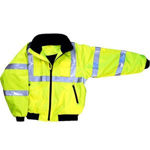 Majestic 75-1301 Series : M-Safe Yellow High Visibility jacket, with Fleece Liner.