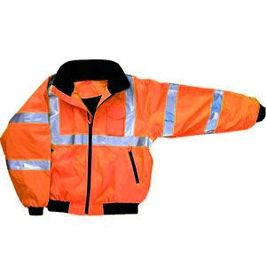 Majestic 75-1302 Series : M-Safe Orange High Visibility Jacket, with Fleece Liner.