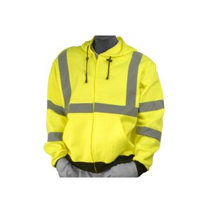 Majestic: High Visibility Yellow Sweatshirt with Hood