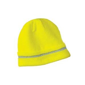 Majestic: High Visibility Knit Acrylic Beanie Yellow (Each)