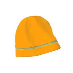 Majestic: High Visibility Knit Acrylic Beanie Orange (Each)