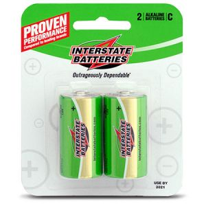 Interstate Alkaline Battery | Size C | 2-Pack