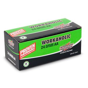 "Interstate Batteries: 24 ∼ Size 'AA' ""Workaholic"" Alkaline Batteries"
