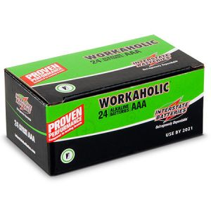 "Interstate Batteries: 24 ∼ Size 'AAA' ""Workaholic"" Alkaline Batteries"