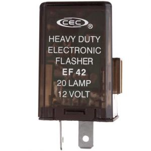 Heavy Duty Electronic Flasher | Self-Adjusting | 12-Volt, 20-Lamp