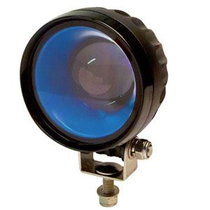 ECCO: Round LED Pedestrian Arrow Caution Light | Blue (Part# EW2010B)