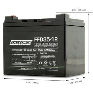 Full-River: General Purpose AGM Battery | 35Ah Group U1 (Part#:FFD35-12)