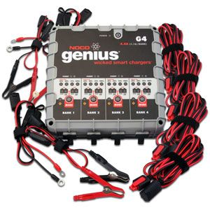 NOCO Genius 4-Bank Smart Battery Charger (4.4 amps)