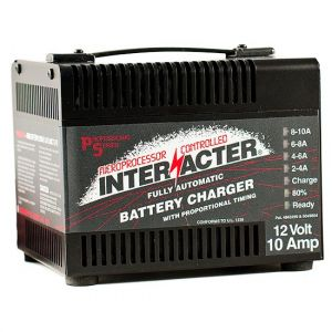 Interacter: 12 volt 10 AMP - SCR Battery Charger (Professional)