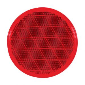 Optronics 3-Inch Red Reflector | Self Adhesive