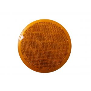 "3"" Round Amber Reflector 