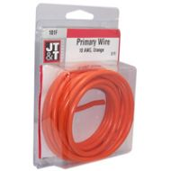 JT&T Orange Primary Copper Wire | 10 Gauge, 8 Feet