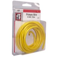 JT&T Yellow Primary Copper Wire   10 Gauge, 8 Feet