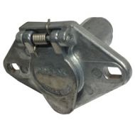 Pollak Heavy-Duty 4-Pole Trailer Socket | Spring-Loaded Cover