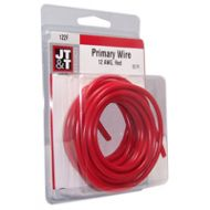 JT&T Red Primary Copper Wire | 12 Gauge, 12 Feet