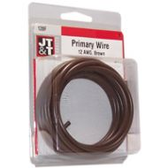 JT&T Brown Primary Copper Wire | 12 Gauge, 12 Feet